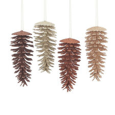Pine Cones Christmas Ornament Set ~ Set/4