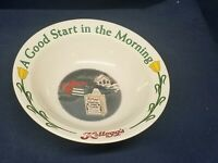 "Vintage Kellogg's Cereal Bowl 1996 ""A Good Start In The Morning"" 2nd in Series"