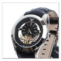 5c3cf163813 Emporio Armani Men s  Meccanico  Automatic Stainless Steel and Leather  AR4640