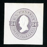 US Stamps # U99 Superb Cut square unused