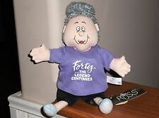 """40th Birthday Doll Forty .The Legend Continues 9"""" Soft Russ Oldtimers New w/Tag"""