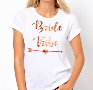 Hens Night Party Iron On Transfer ROSE GOLD - BRIDE TRIBE