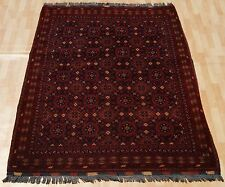 FLORAL RUG AFGHAN CARPET HAND KNOTTED RECTANGLE WOOL 30+ RED AREA RUGS 5X6ft
