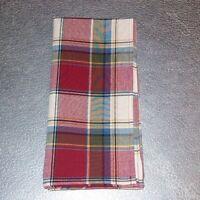 Longaberger Napkins 2-Pk Cornflower Plaid Fabric