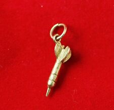 NEW 9ct Yellow Gold Solid Dart Charm 375 Pendant 3D Free Shipping Option 9KT