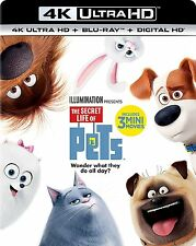PRE ORDER: THE SECRET LIFE OF PETS (4K ULTRA HD)- Blu Ray - Sealed Region free