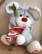 Fisher Price Puffalumps Christmas Mouse W/ Candy Cane Nylon Plush