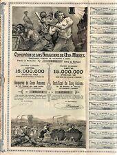 SCRIPOPHILIE / LA HULLERAS DE UJO-MIERES / ACTION BOURSE / MINE DE CHARBON 1904
