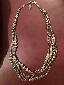 SILPADA N1683 Multi 3 Strand Green Pearl Aventurine Copper & Jade Bead Necklace