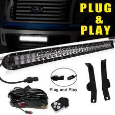 For Ford F150 20 Inch LED Light Bar w/ Front Lower Hidden Bumper Mount Brackets