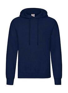 FRUIT OF THE LOOM Classic Plain Hooded Zipper Sweatshirt Mens unisex Hoodie