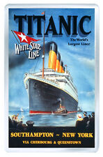 TITANIC TRAVEL ADVERTISING VINTAGE REPRO FRIDGE MAGNET IMAN NEVERA