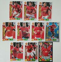 2019/20 Manchester United Team Set Soccer Cards Panini Adrenalyn EPL (10 cards)
