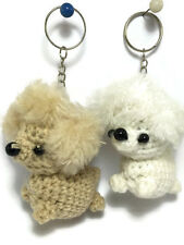 2 pc Cute Dog Yarn Doll handmade Voodoo Doll Wedding couple Keychain Craft