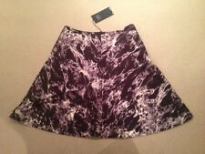 M&S Black and White A-line Skirt. Size 10. RRP £29.50