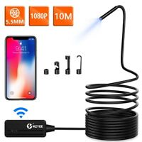 10M LED Wireless Endoscope WiFi Borescope Inspection Camera For IOS & Android