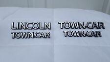 NICE Original OEM 90-97 Town Car Chrome Trunk Lid & Fender Ornament Emblem Set