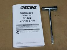 ECHO CS-352  chainsaw owners manual, wrench tool OEM