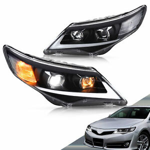 VLAND LED Headlights For 2012-2014 Toyota Front Projector Headlamp Assembly