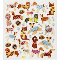 Creativ, Sticker Sheet, Dogs, 16,5 x 15 cm, 26 Stickers, 1 Sheet, Glitter