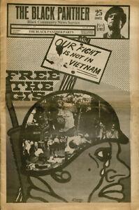 Black Panther Party Newspaper Vietnam Poster 12x18
