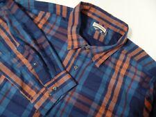 Magellan Outdoors Men's FishGear BLUE Plaid Long Sleeve Fishing Shirt 3XL ECU