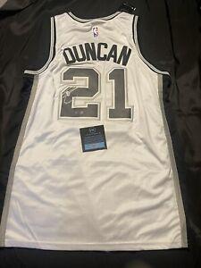 Tim Duncan Signed Autographed San Antonio Spurs NBA Jersey COA
