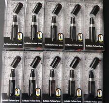10 Travalo Black Refillable Mini Perfume Bottle Spray 0.13 Oz Aircraft Approved
