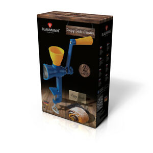 Blaumann Poppy Seed Grinder Mill Cast Iron Table Clamp Spice Kitchen Utensil Nut