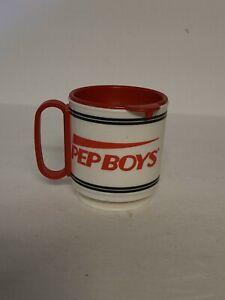 Vintage Pep Boys Manny Moe & Jack Travel Plastic Coffee Mug Whirley Ind. USA - 2
