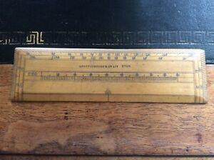 Antique Boxwood Spottiswoode Eton Protractor Ruler