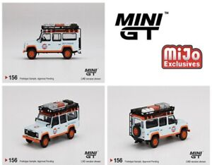 (PRE ORDER) Mini GT 1:64 Mijo Exclusive Land Rover Defender 110 Gulf Livery