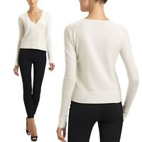 tata womens Fashion V Neck wool jumper Ladies Celebrity cashmere Sweater Size