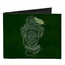 Harry Potter Slytherin Canvas Buckle Down Bifold Wallet Anime Manga New