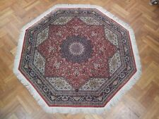 OCTAGON 8x8 Silk Persian Qum Rug UNIQUE MASTERPICE