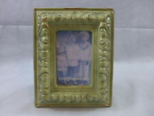 "Ceramic Picture Frame Vintage Look 4"" X 6"" Creative co-op Table Top Green New"