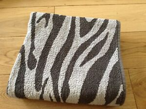 Miomare Zebra Animal Print Brown 100% Cotton Bath Sheet Large Towel