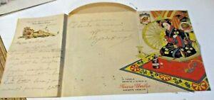 Billet Postal Pubbl. Ferrochina Bisleri Eau Nocera Umbra Script 1919