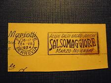 SALSOMAGGIORE ACQUE SALSO-BROMO-JODICHE ANNULLO MECCANICO 1924 SU FRAMMENTO CP