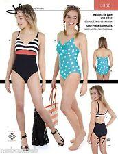 Jalie 1 Pc Swimsuit Sweetheart or Twist Neckline Sewing Pattern 3350 Women Girls