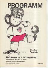 OL 81/82  BFC Dynamo Berlin - 1. FC Magdeburg