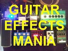 Guitar Effects Mania! DVD Lessons About Pedals. Learn What Each Kind Sounds Like