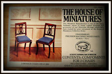 DOLL HOUSE OF MINIATURES LYRE BACK CHAIRS KIT. MAKES 2 CHAIRS, ANTIQUE REPLICAS