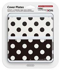 Cubierta carcasa Nintendo 3DS No.015 puntos blanco negro N3DS
