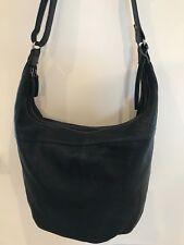 Beautiful soft black leather fully lined handbag / shoulder bag originally £120,