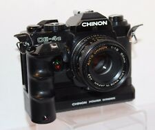 CHINON CE-4s SLR corps avec CHINON 50 mm Objectif F1.9 & Powerwinder 600, PK Mount!!!