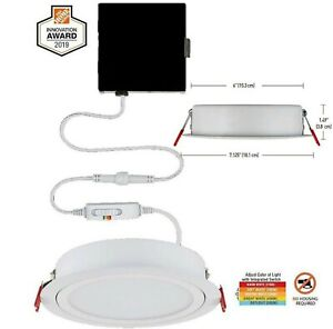 Commercial Electric Slim Directional 6 in. Canless Recessed LED Kit