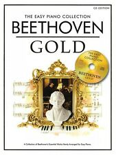 Beethoven Gold Sheet Music The Easy Piano Collection Piano Solo Book 014042756