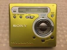 Sony Minidisc Walkman Player and Recorder Neon Green Mz-R700 Clean Tested