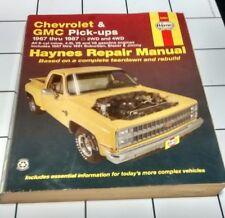 Haynes Manual 24064 Chevrolet GMC Pick ups 1967-1987 2WD 4WD